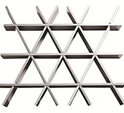 三角形铝格栅天花